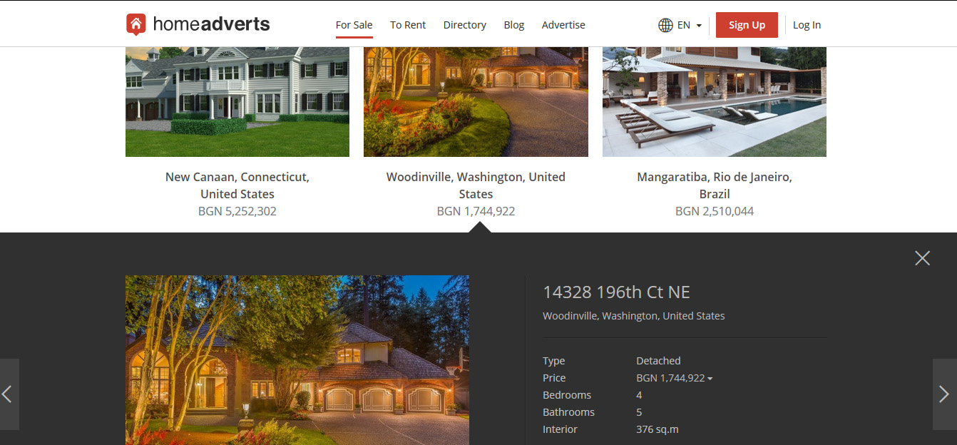 Homeadverts design